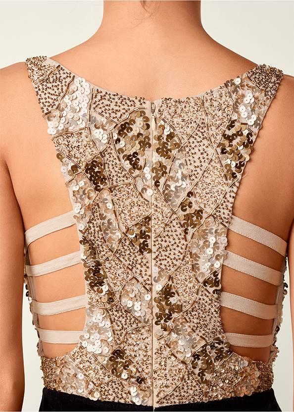 Alternate View Sequin Velvet Dress