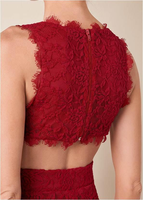 Alternate View Open Back Lace Jumpsuit