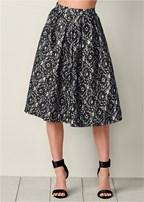 lace circle midi skirt