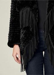 Alternate View Faux Fur Fringe Coat