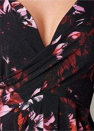 Alternate View Floral Dress With Slit