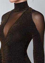 Alternate View Glitter Bodycon Dress