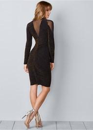 Back View Glitter Bodycon Dress