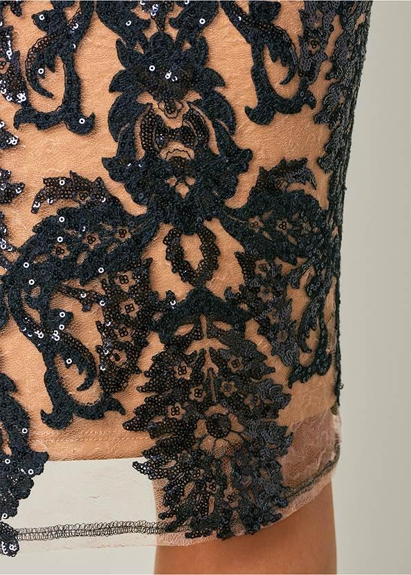Alternate View Sequin Cold Shoulder Dress