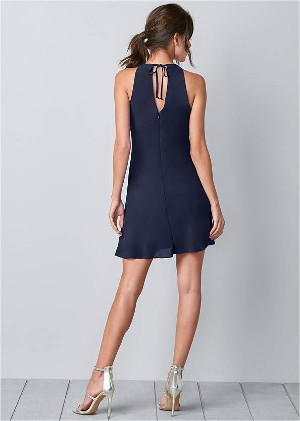 Alternate View Embellished Ruffle Front Mini Dress