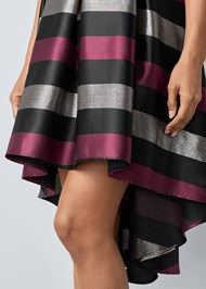 Alternate View Lace Stripe Cocktail Dress