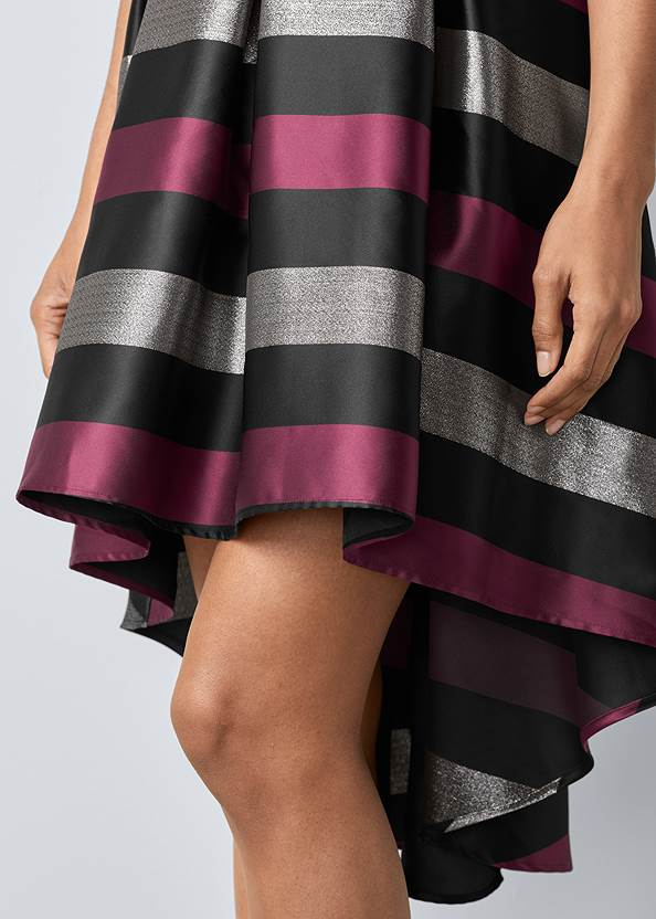 Alternate View Lace Stripe Cocktail Dress