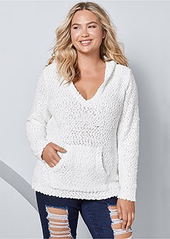 plus size cozy textured sweater
