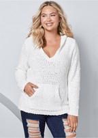 plus size cozy textured sweater