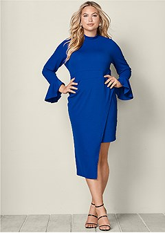 plus size asymmetrical dress