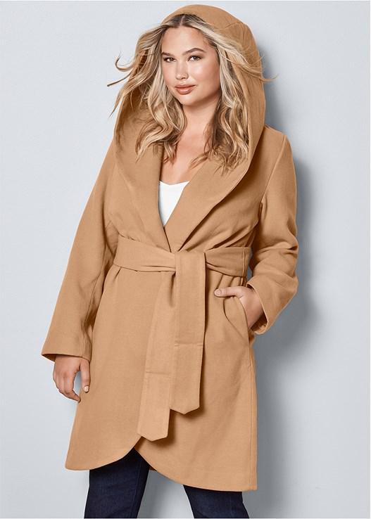 6bdd8bde82be8 plus size hooded wrap coat