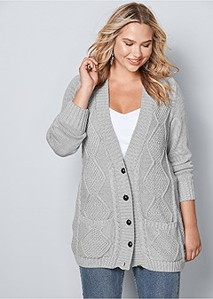plus size extra long cardigan