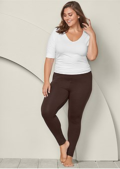 plus size basic leggings