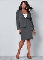 plus size pencil skirt suit set