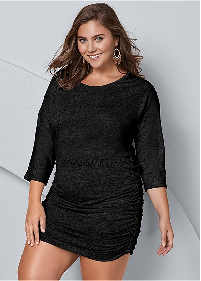 Plus Size Ruched Detail Dress