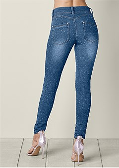 bum lifter studded jeans
