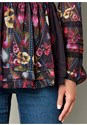 Alternate View Floral Peasant Blouse