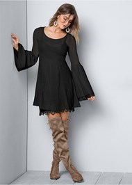 Front view Boho Sweater Dress
