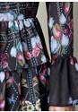 Alternate View Print Tier Ruffle Dress