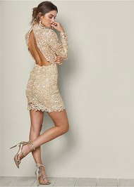 Alternate View Open Back Lace Dress