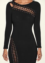 Alternate View Lace Up Detail Long Dress