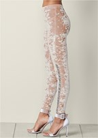 embellished velvet leggings