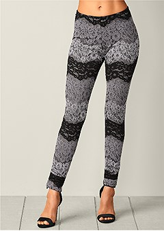 multi color lace leggings