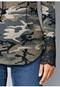 Alternate View Lace Detail Camo Top