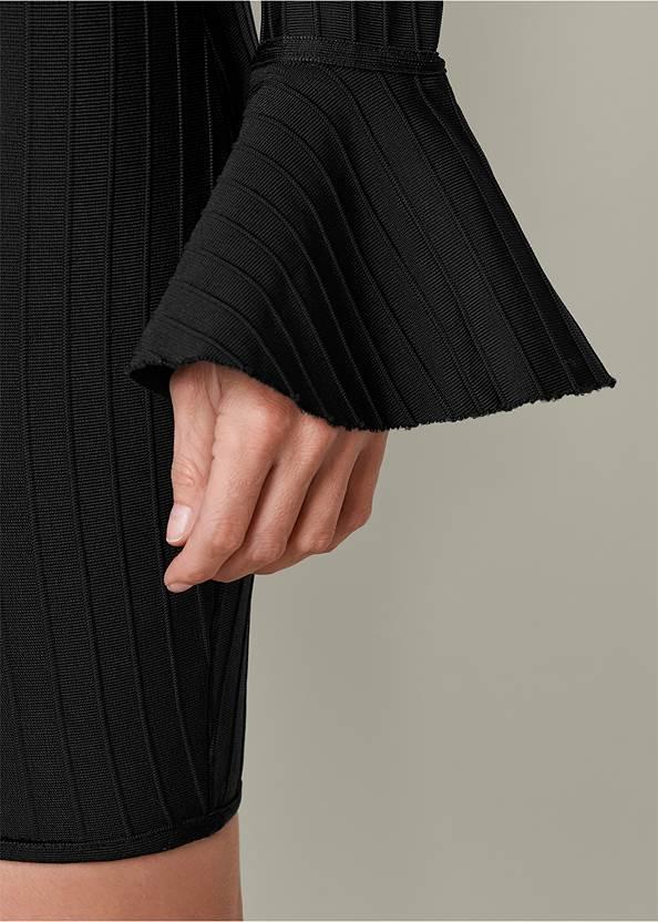 Alternate View Slimming V-Neck Dress