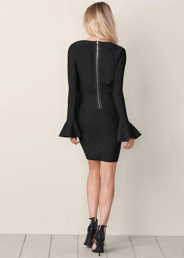 Back View Slimming V-Neck Dress