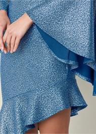 Alternate View Metallic Detail Dress
