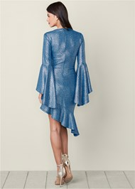 Back View Metallic Detail Dress