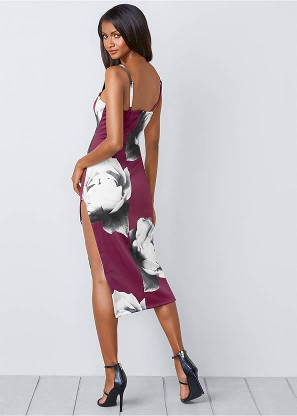 Back View High Slit Bodycon Dress