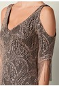 Alternate View Fringe Detail Lace Dress
