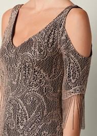 Alternate View Fringe Detail Lace Dress