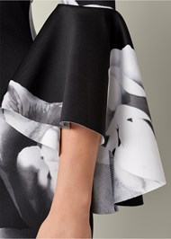 Alternate view Sleeve Detail Floral Dress