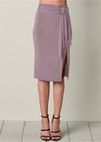 ring and sash midi skirt