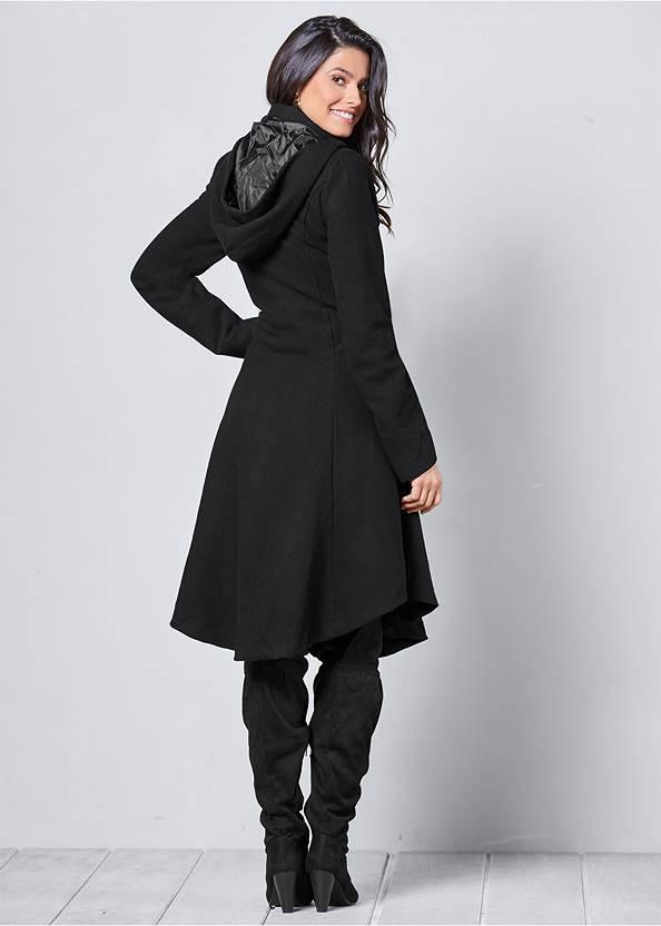 Back View Handkerchief Hem Coat