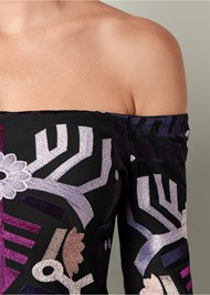 Alternate View Embroidered Peplum Top