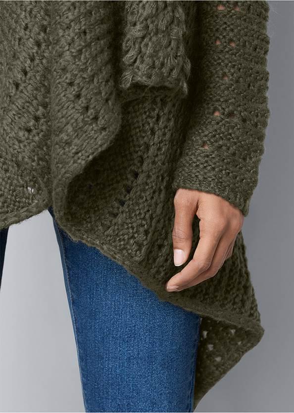 Alternate View Open Knit Cardigan
