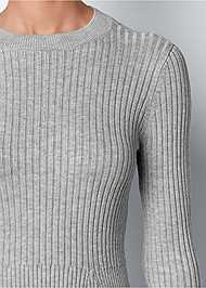 Alternate View Ribbed Peplum Sweater