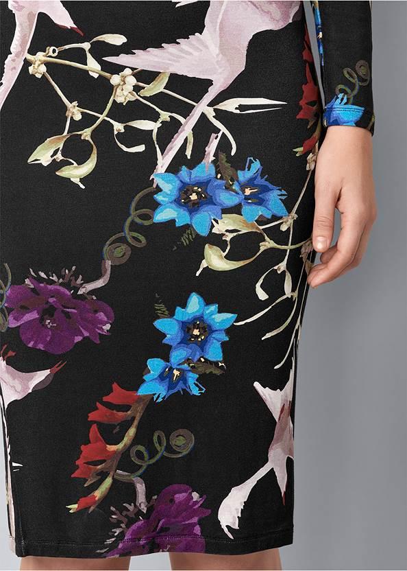 Alternate View Long Sleeve Printed Dress