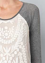 Alternate View Embroidered Layered Top