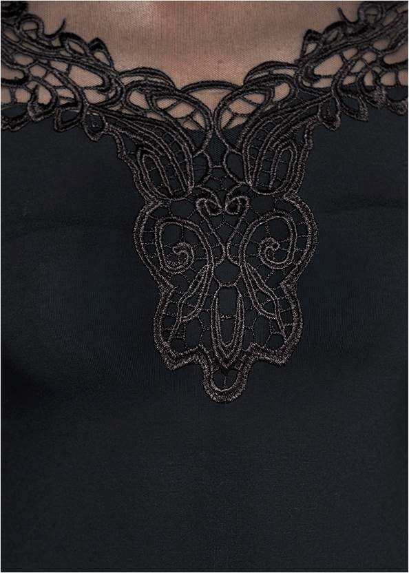 Alternate View Embroidered Bell Sleeve Top
