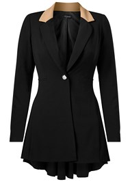 Alternate View Long Ruffle Back Blazer