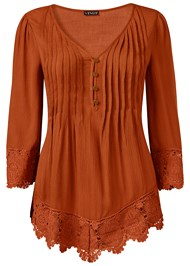 Alternate View Lace Detail Button Up Top