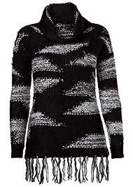 Alternate view Contrasted Fringe Sweater