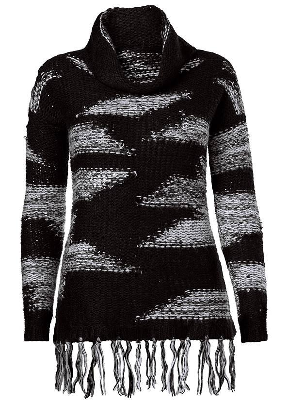 Alternate view Contrast Fringe Sweater