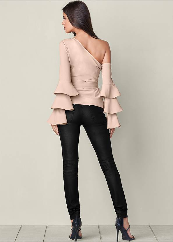 Back View Ruffle Off The Shoulder Top