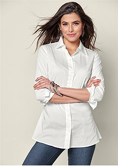 button up oxford shirt